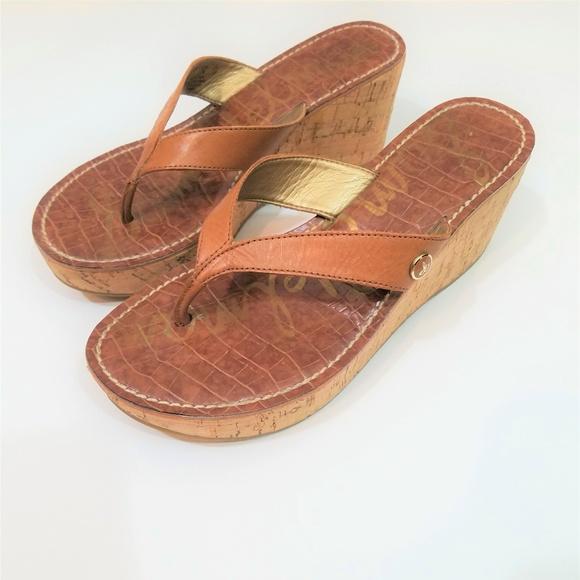 77ca71566763fd Sam Edelman  Romy  Wedge Thong Slide Sandals